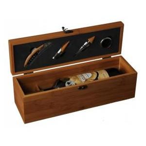 Dřevěný Box na 1 láhev s příslušenstvím