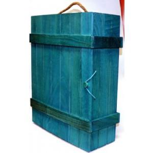 Box na 3 lahve c0014 modrý