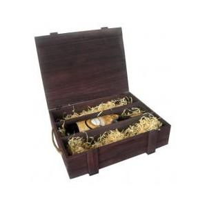 Box na 3 láhve-hnědý