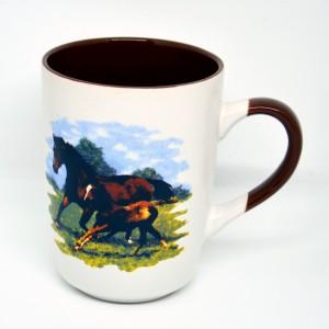 Hrnek David Kůň dva koně hnědý