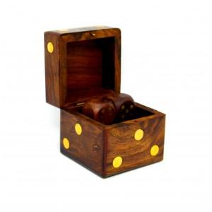 Kostky dřevo intarzie 6 cm 2115