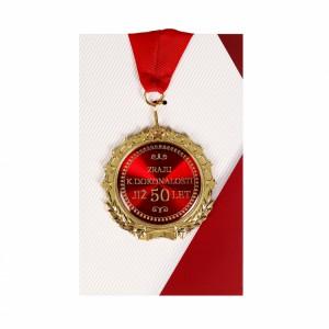 Medaile 50let červená
