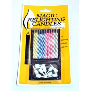 Nesfouknutelné svíčky 10 ks