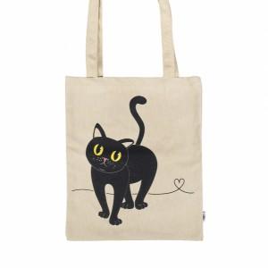 Taška plátěná kočka