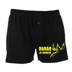 Trenýrky černé-Banán je uvnitř