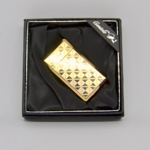 Zapalovač Don Marco zlatý šachovnice